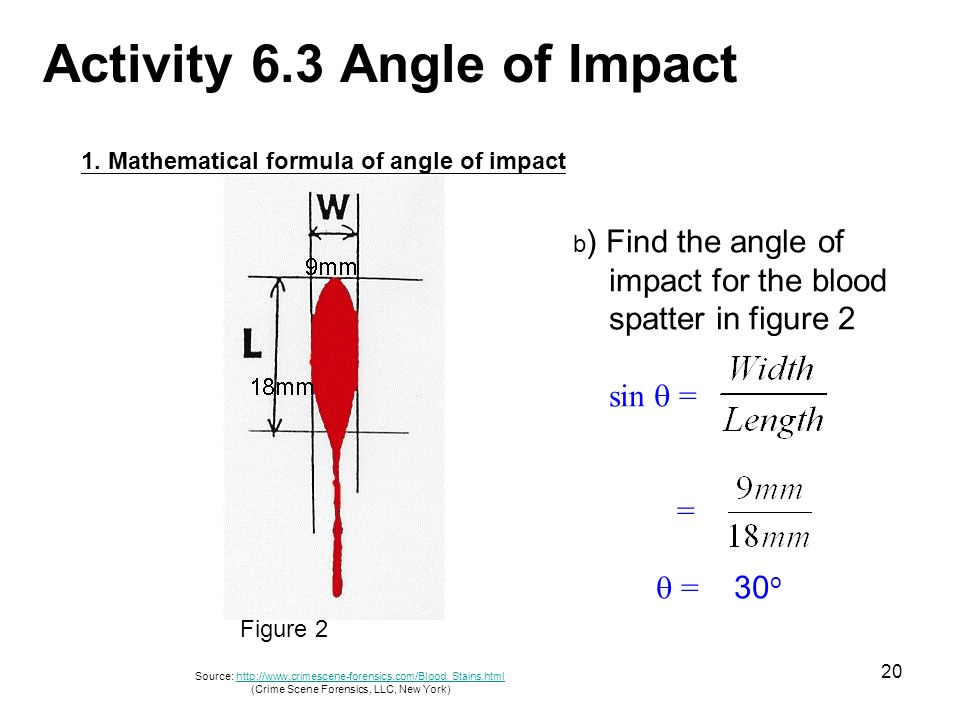 90 degree diagram samsung dryer wiring of angle impact diagrams lose lesson 6 blood spatter analysis ppt download 2 x