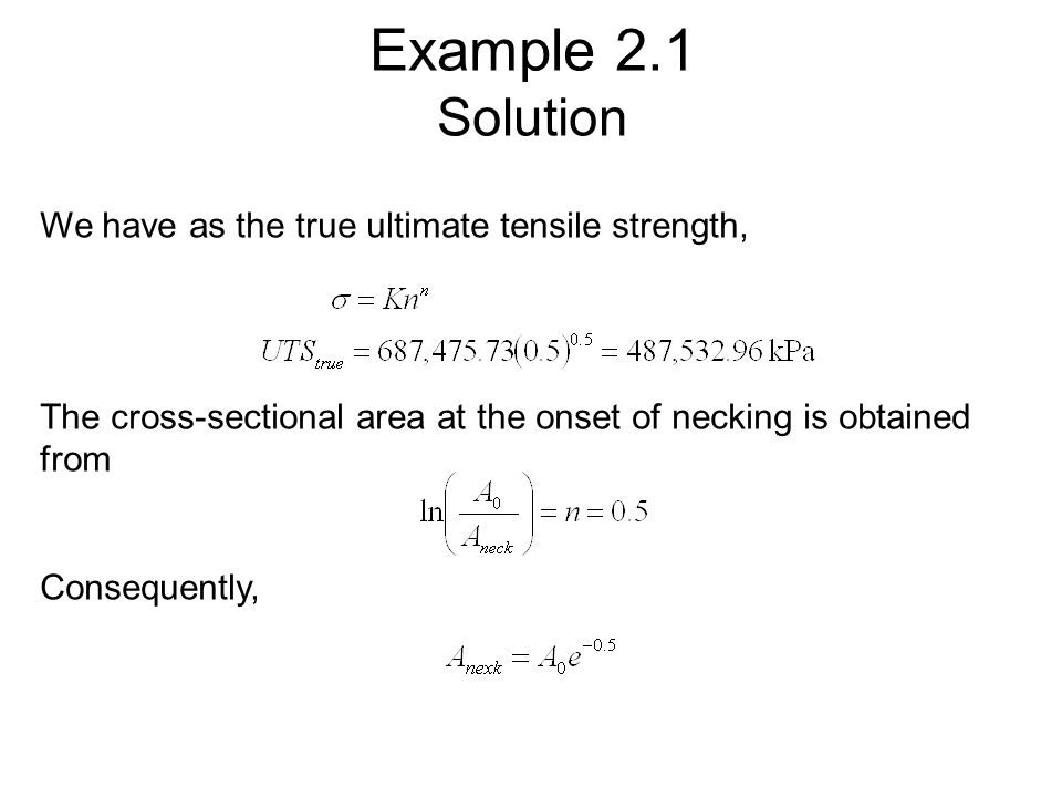 Ultimate Tensile Strength Calculation