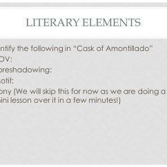 The Cask Of Amontillado Story Diagram Suzuki Wiring Motorcycle Lesson 38 Irony Ppt Literary Elements Identify Following In Pov
