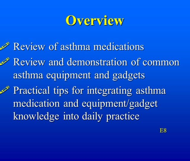 Overview Review Of Asthma Medications