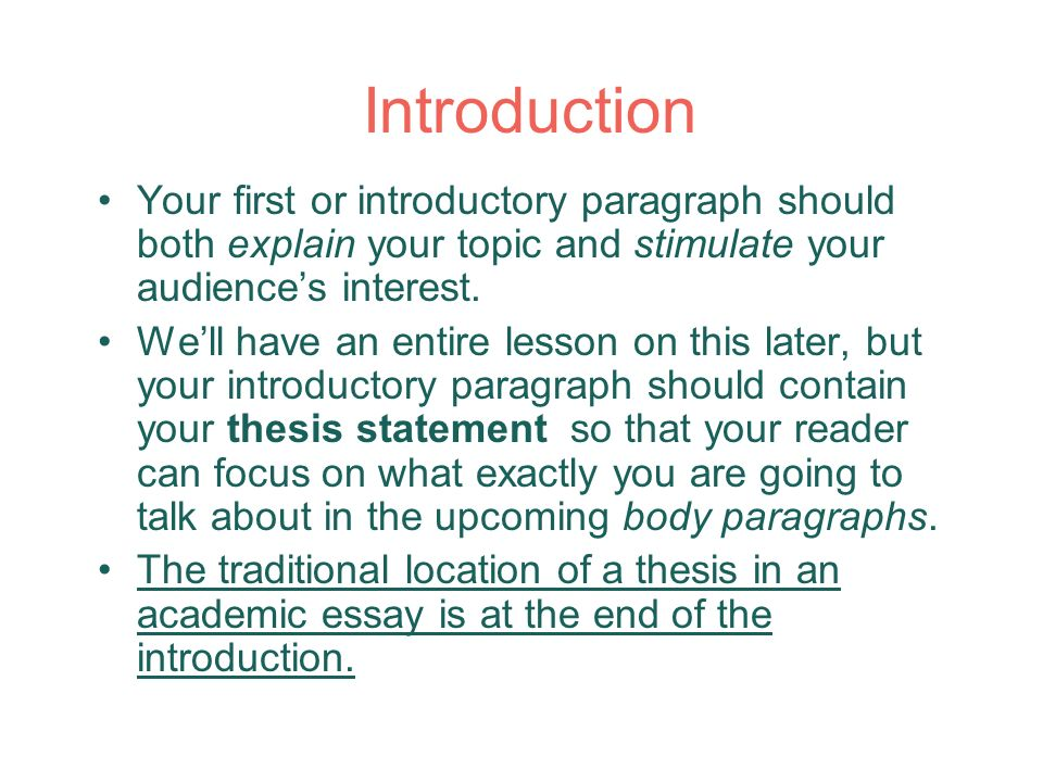 Essay Structure and Thesis  ppt download