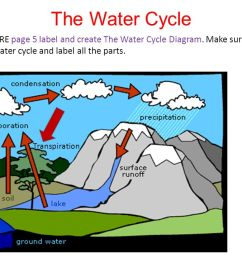 the water cycle on the entire page 5 label and create the water cycle diagram  [ 1280 x 720 Pixel ]