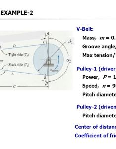 Example  belt mass    kg groove angle also section viii drives ppt video online download rh slideplayer