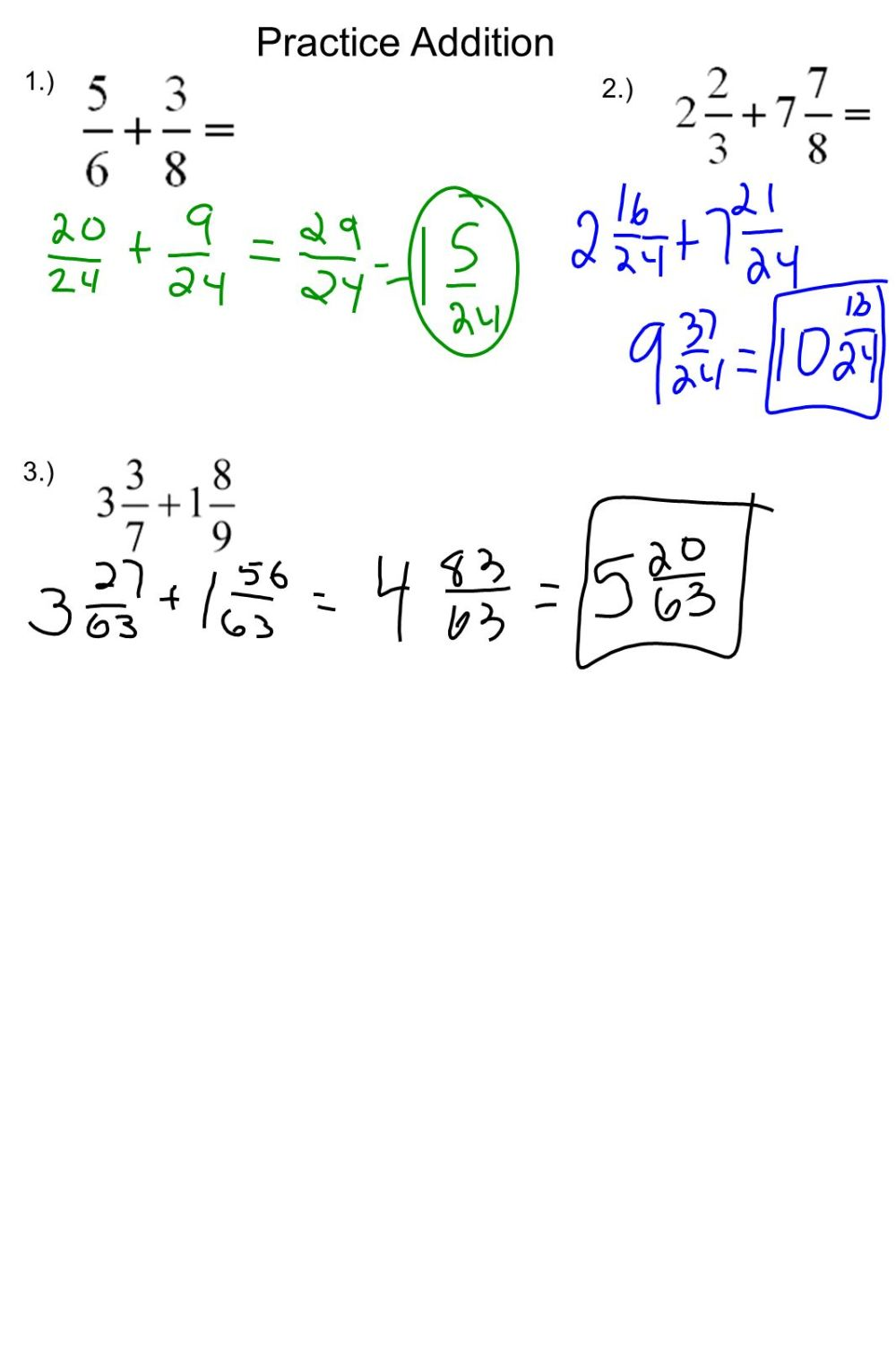 medium resolution of 5-3 Adding Fractions Review: - ppt download