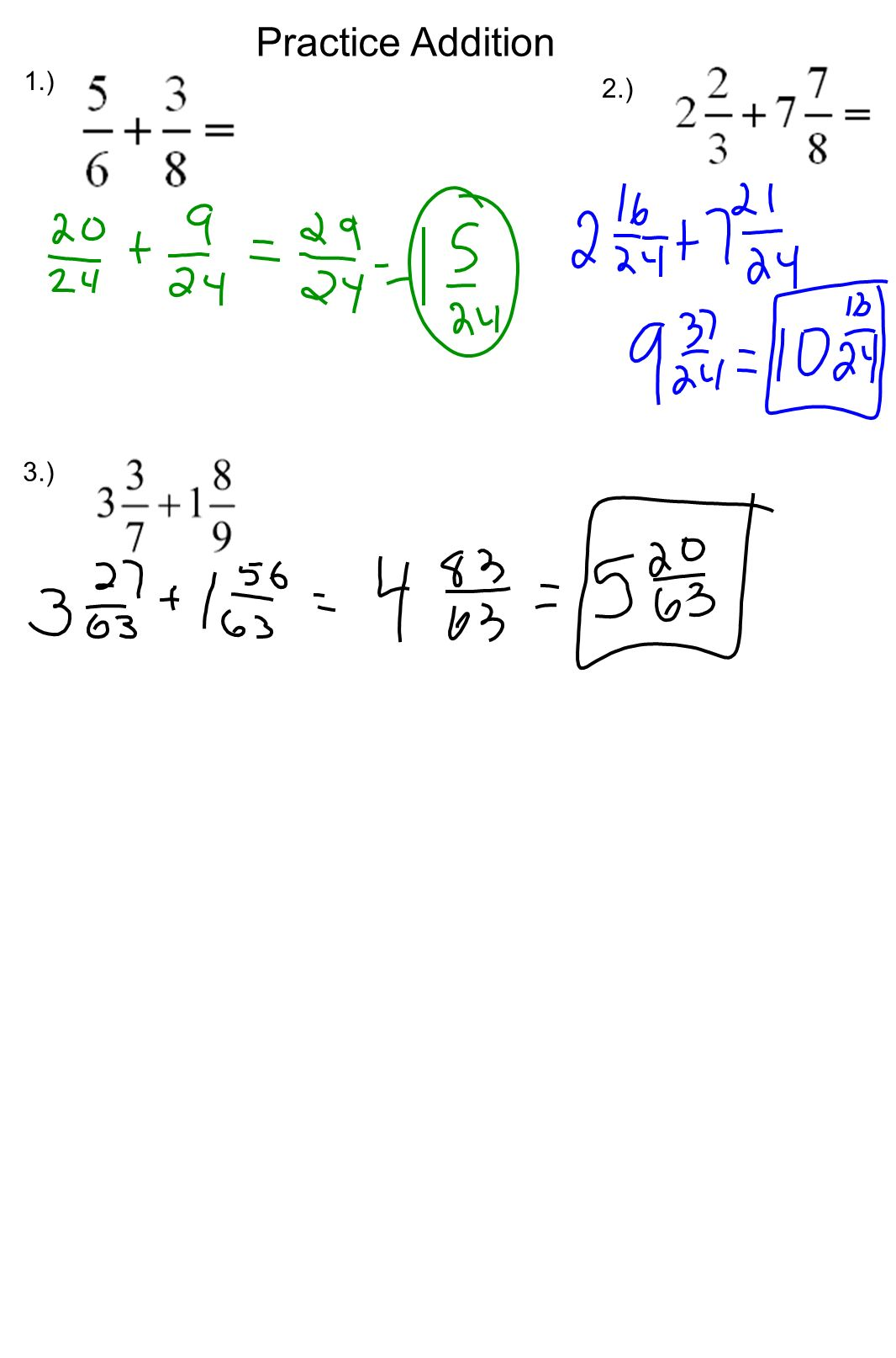hight resolution of 5-3 Adding Fractions Review: - ppt download