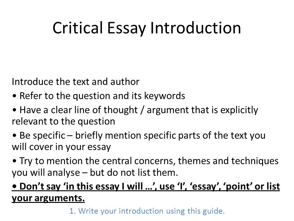 Critical Essay Writing Ppt Video Online Download