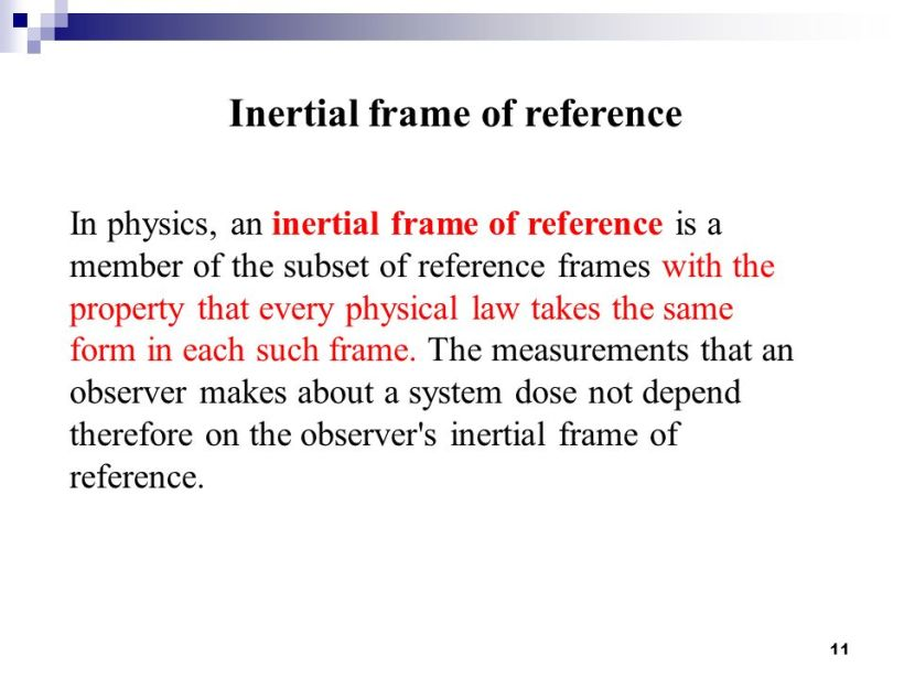 Inertial Frame Of Reference Laws Physics | Amtframe.org