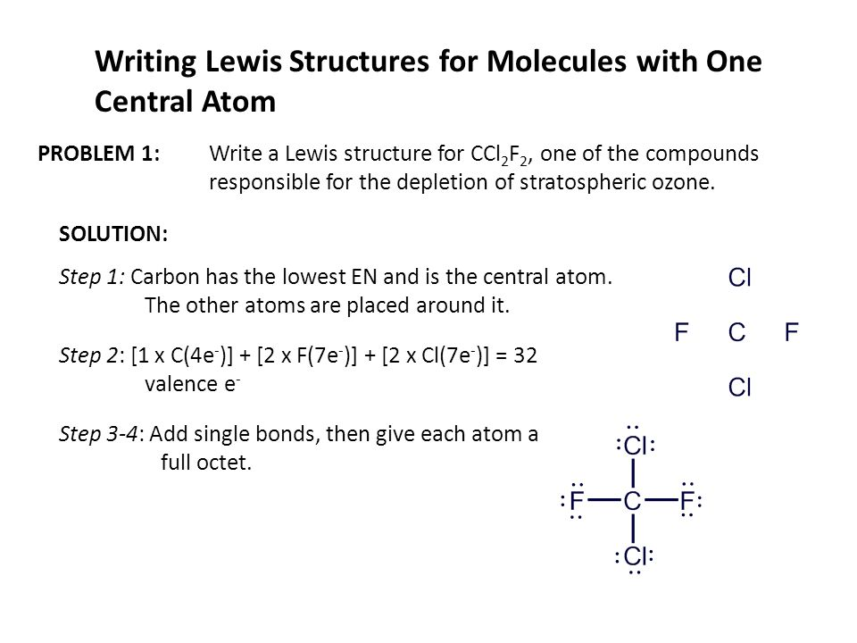 lewis dot diagram steps 1999 toyota tacoma parts writing structures of simple covalent molecules ppt download for with one central atom