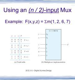 using an n 2 input mux [ 1058 x 793 Pixel ]