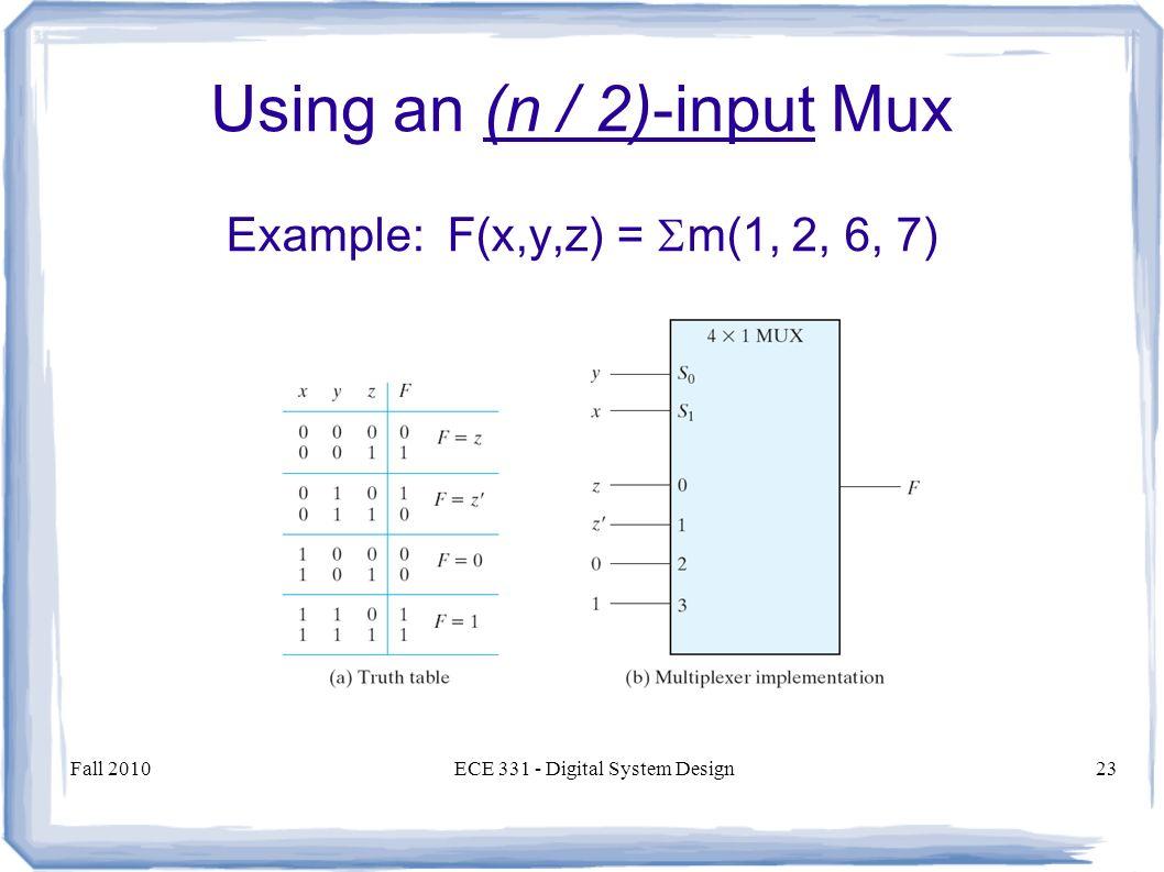hight resolution of using an n 2 input mux
