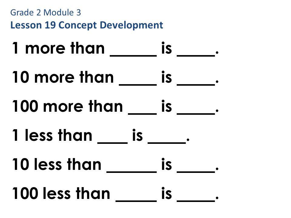 Grade 2 Module 3 Lesson 2 Application Problem Problem