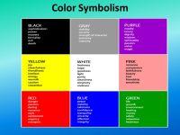 Color Symbolism Directions: Brainstorm a list of ...