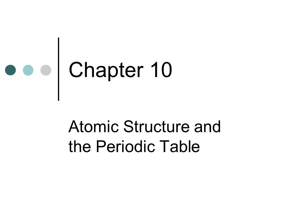Atomic Structure And The Periodic Table Chapter 10 Word