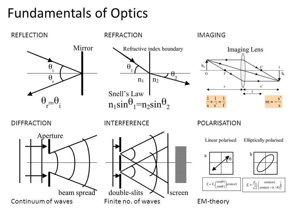 Optics Reflection and Refraction Mirrors and Lenses