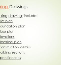 working drawings working drawings include plot plan foundation plan [ 1280 x 720 Pixel ]