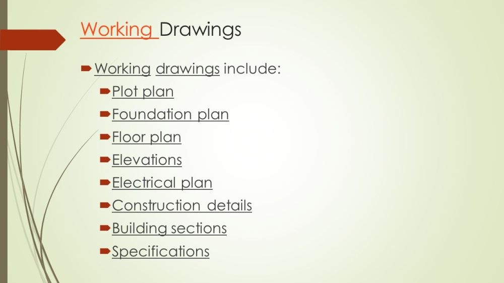 medium resolution of working drawings working drawings include plot plan foundation plan