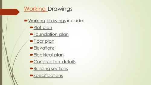 small resolution of working drawings working drawings include plot plan foundation plan