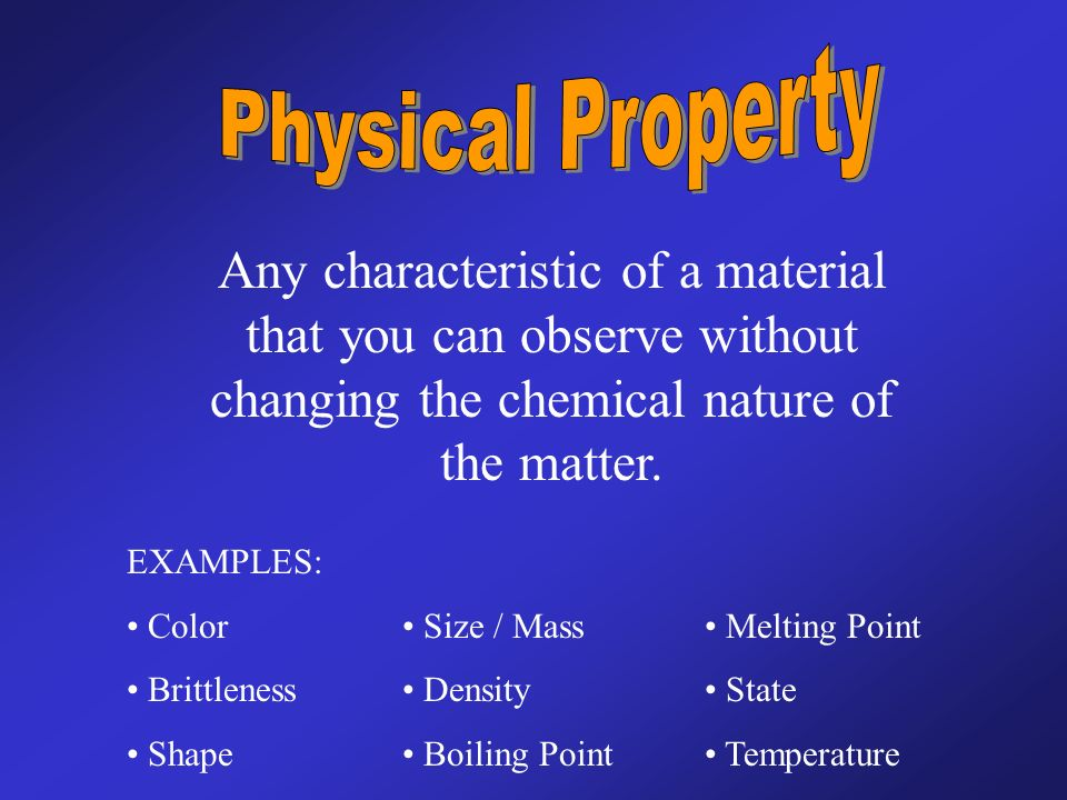 The Point Of Today Distinguish Between Physical And