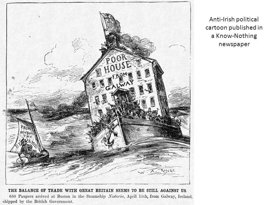 Anti-Irish political cartoon published by the Know-Nothing