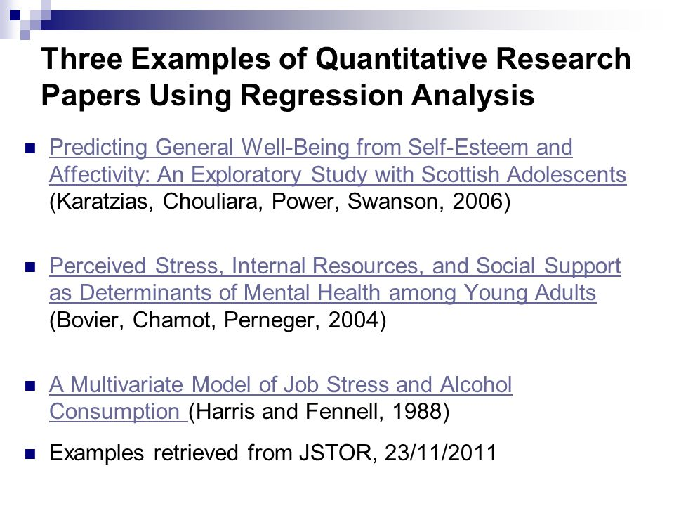 Quantitative Analysis For Research Paper Coursework Academic Writing