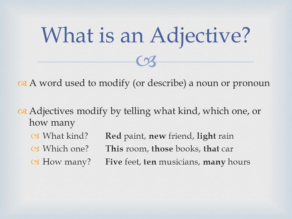 adjectives english ppt download