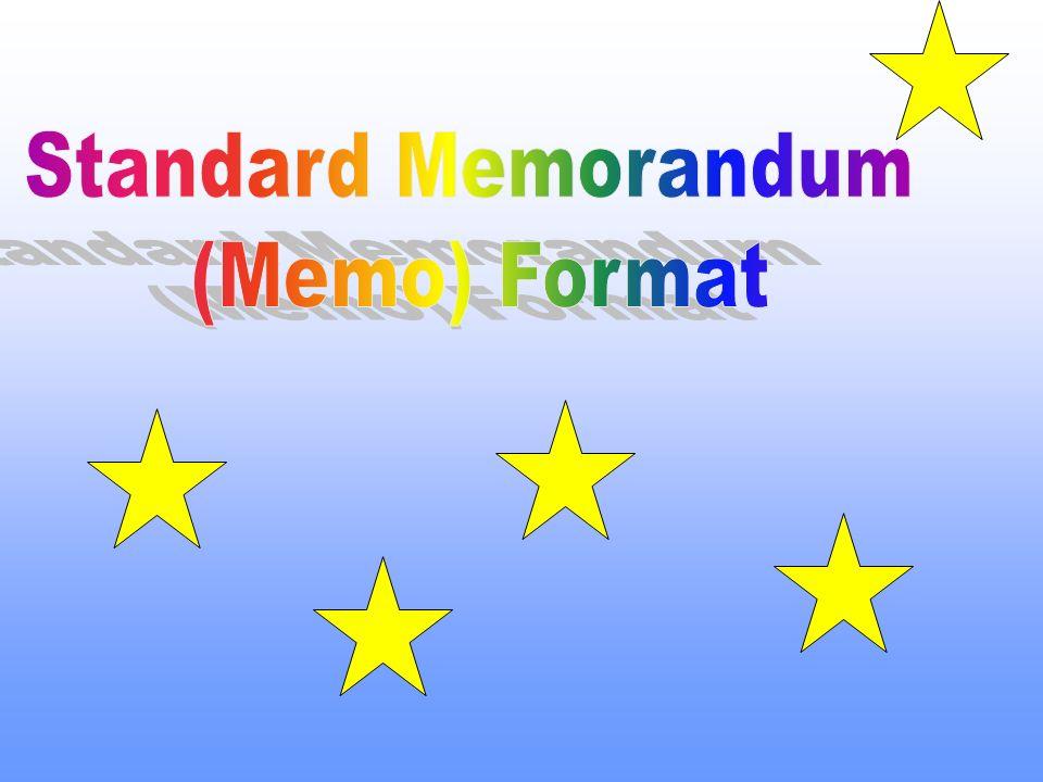 Standard Memorandum (Memo) Format. - ppt video online download