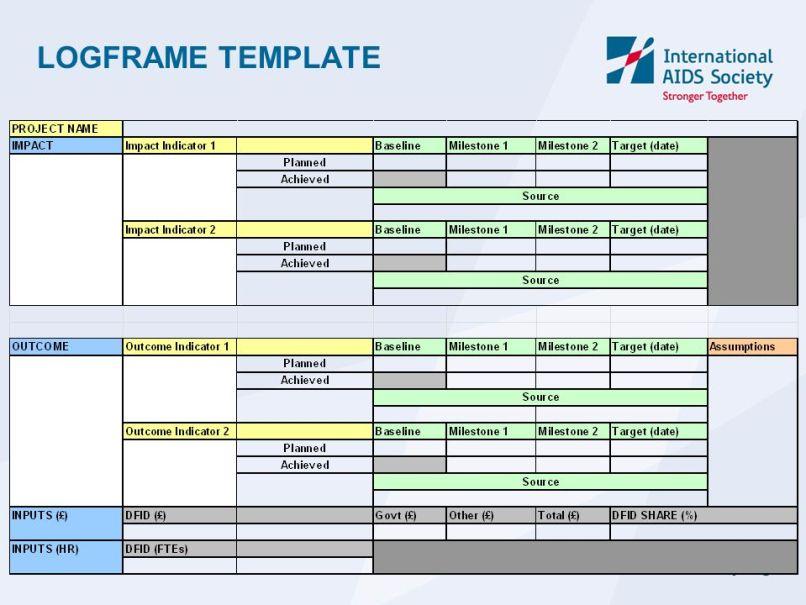 Dfid logframe template framesite dfid logframe template framesite co maxwellsz