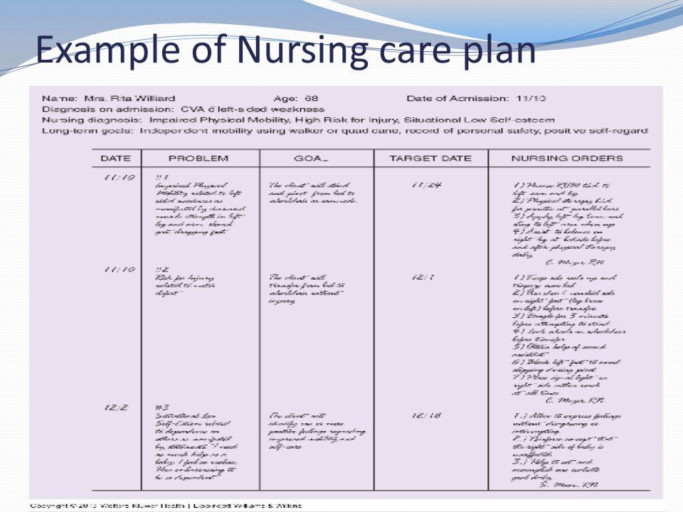 Example Of Nursing Resume