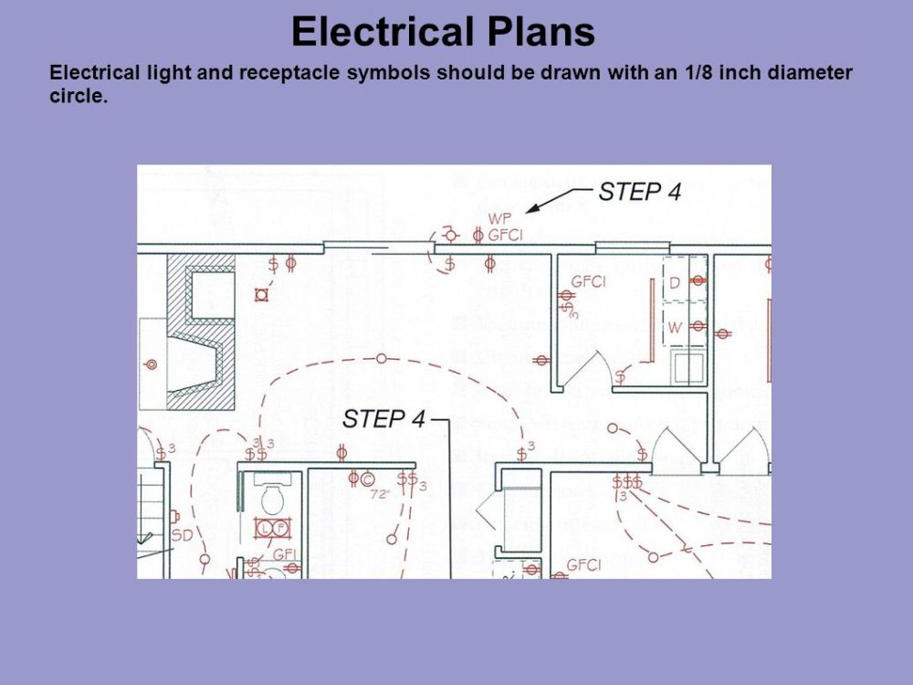 medium resolution of 17 electrical plans electrical light and receptacle symbols should be drawn with an 1 8 inch diameter circle
