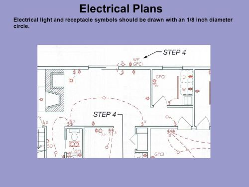 small resolution of 17 electrical plans electrical light and receptacle symbols should be drawn with an 1 8 inch diameter circle