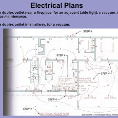 Duplex Receptacle Diagram 1991 Honda Crx Wiring Electrical Plans Ppt Video Online Download Place A Outlet Near Fireplace For An Adjacent Table Light