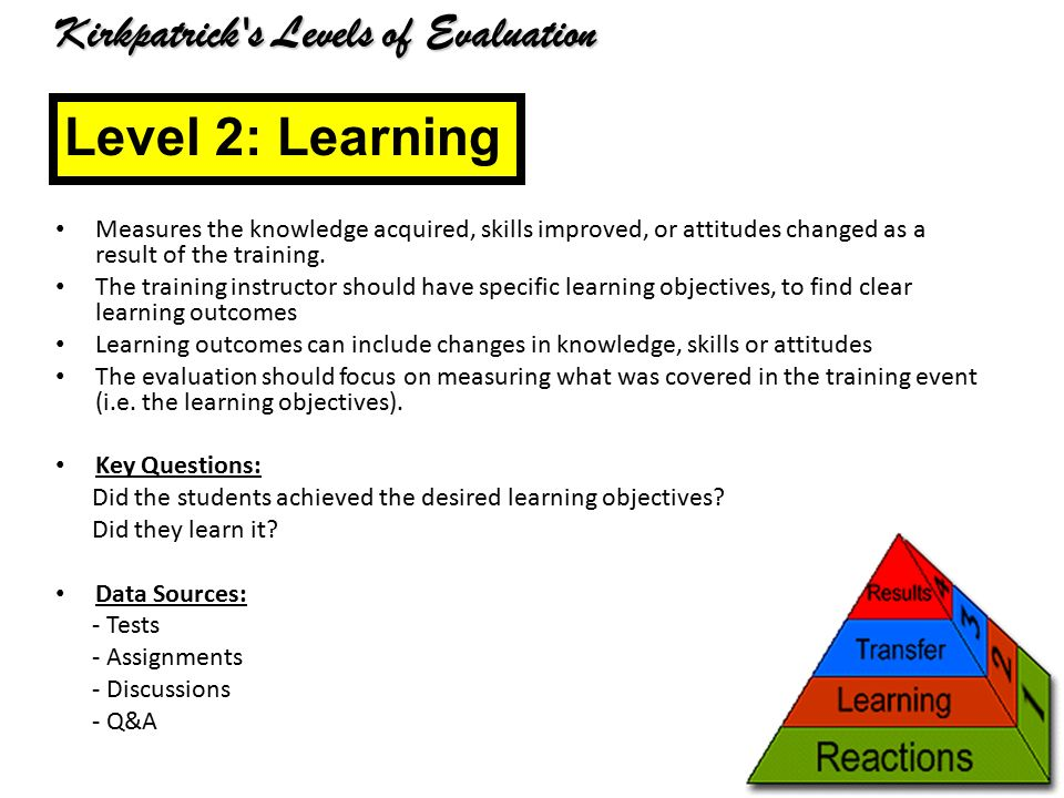 Kirkpatrick's Four-Level Model Of Evaluation