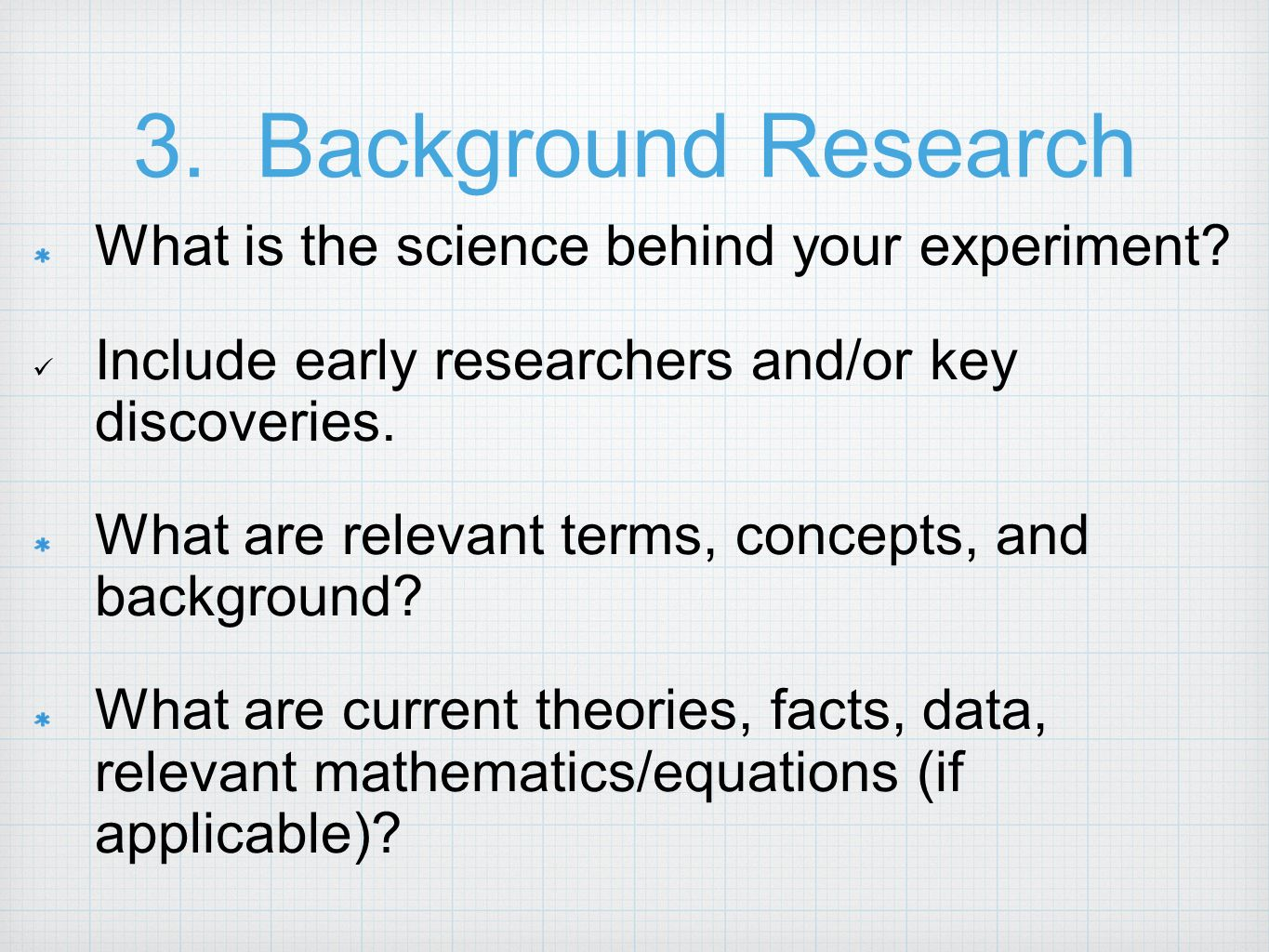 Science Fair Background Research Paper Ppt Video Online