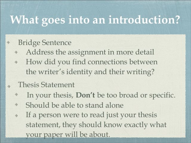 How to Write An Effective Introductory Paragraph - ppt download
