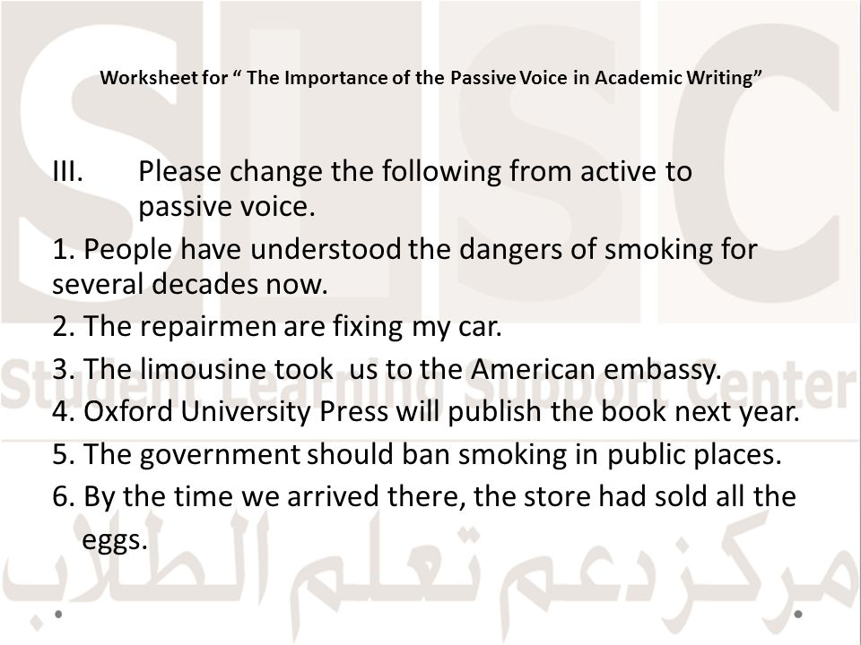 The Importance of the Passive Voice in Academic Writing