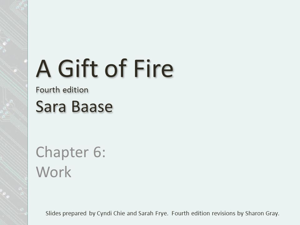 A GIFT OF FIRE BY SARA BAASE PDF DOWNLOAD
