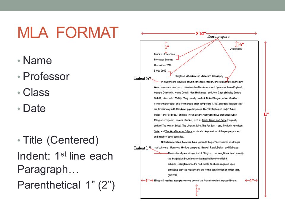 MLA Format What Should My Paper Look Like? Ppt Video