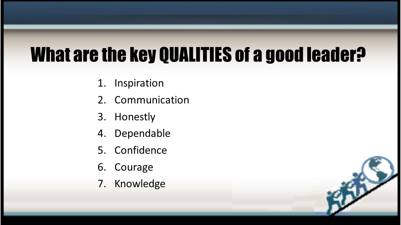 Being a Leader The Top Seven Leadership Qualities  ppt video online download
