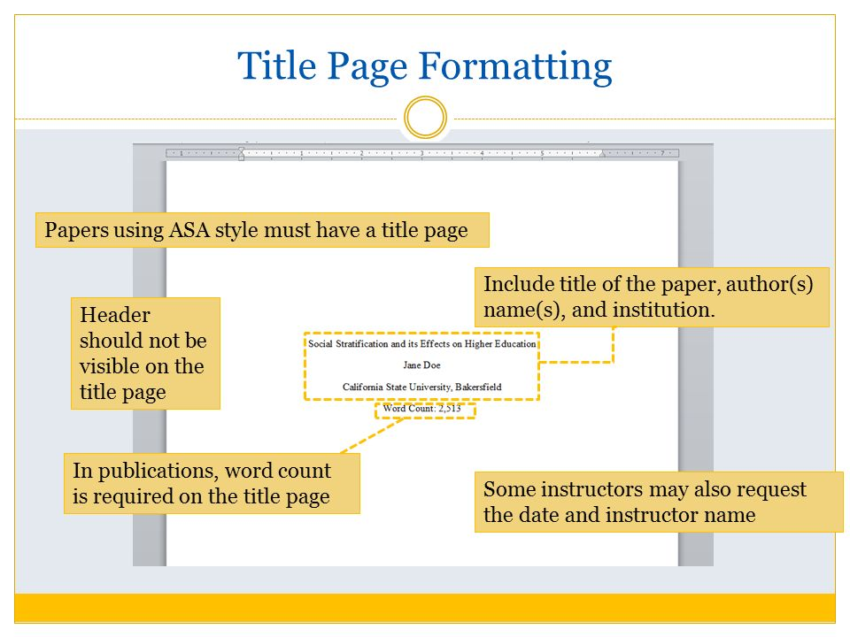 A Title Page Is Required In Apa Formatting Of Research Papers