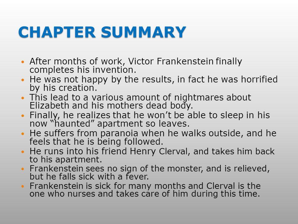 Frankenstein chapter 5 SparkNotes Frankenstein Chapters