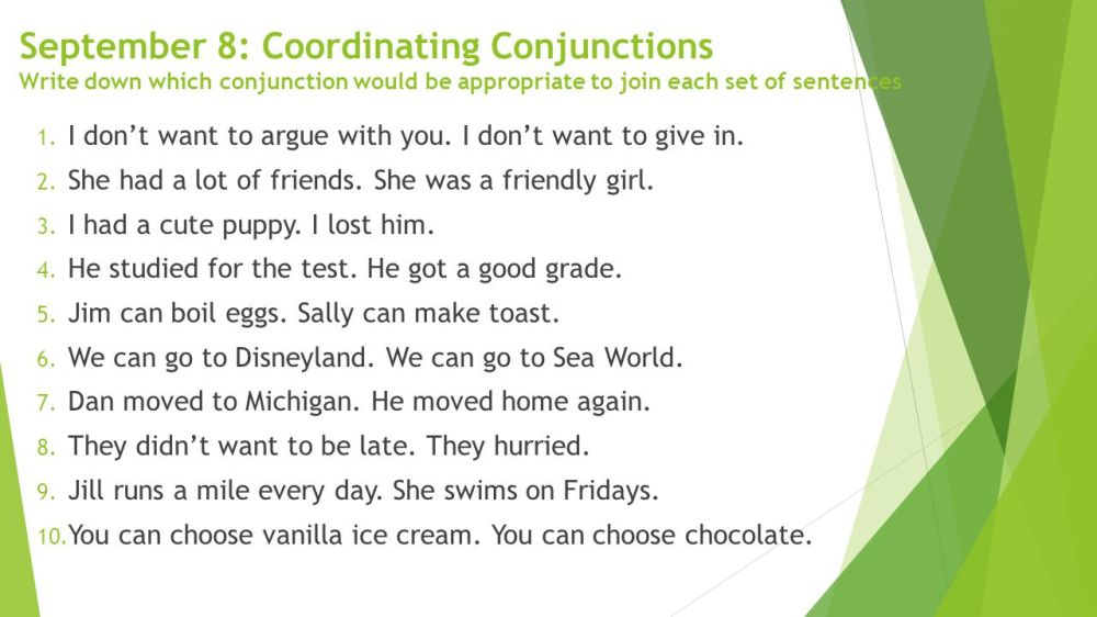 medium resolution of Coordinating Conjunctions - ppt download