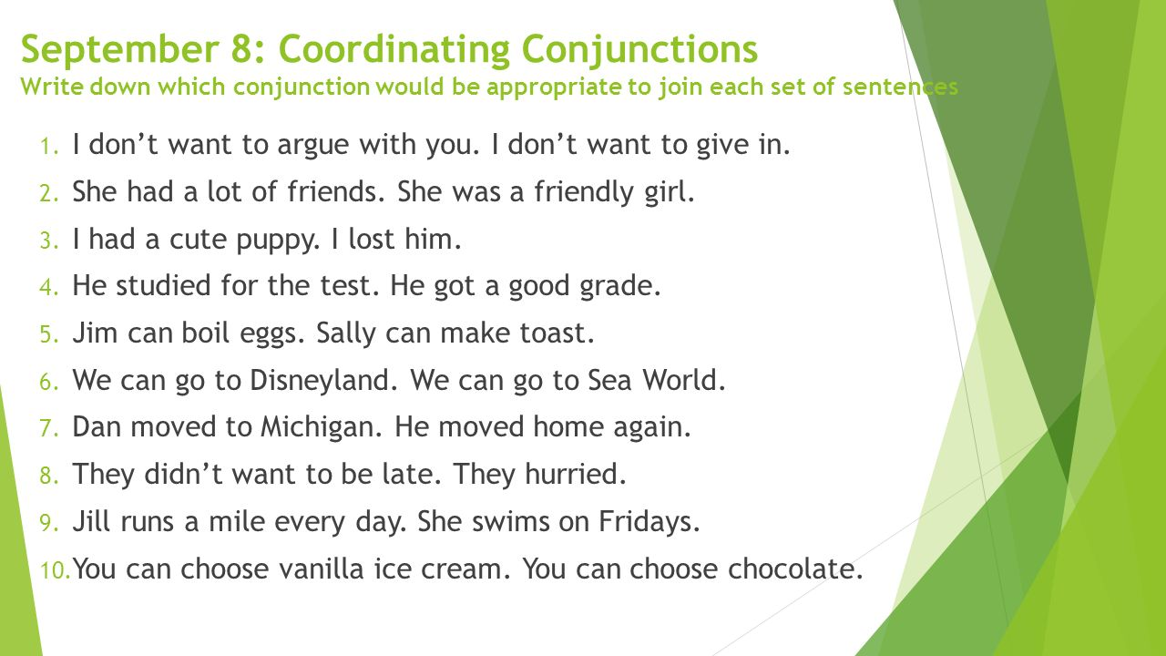 hight resolution of Coordinating Conjunctions - ppt download