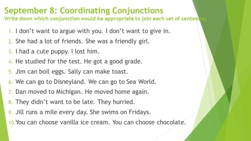 small resolution of Coordinating Conjunctions - ppt download