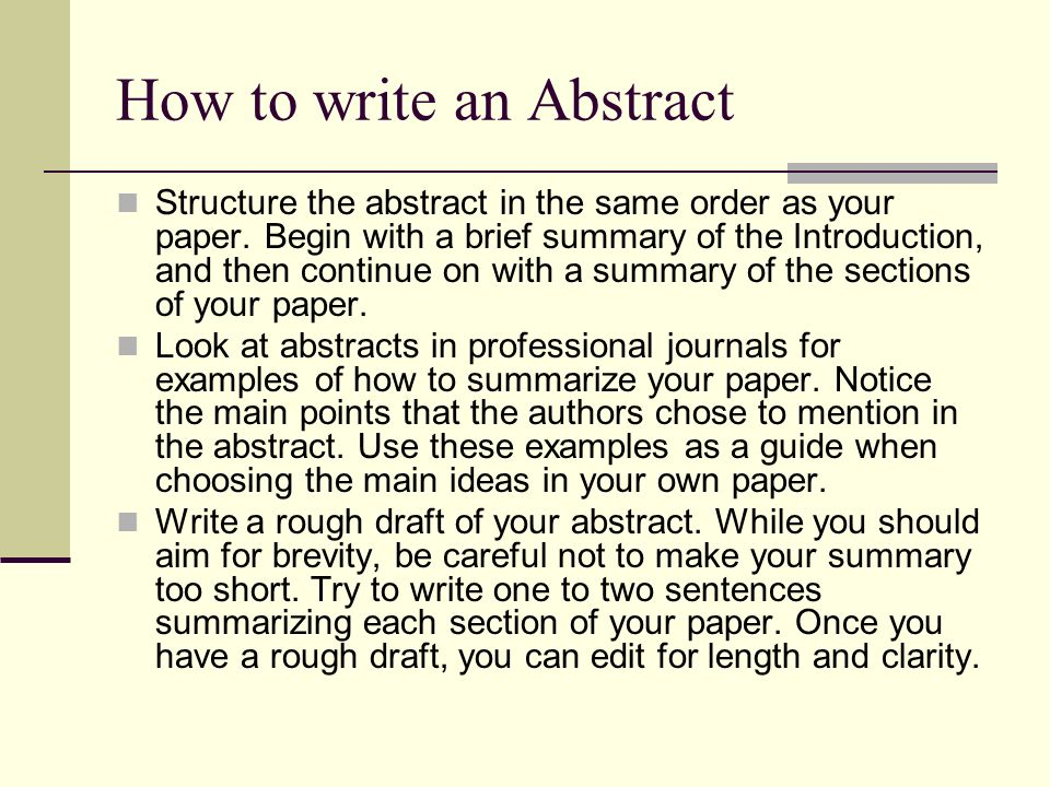APA Style Abstract Ppt Download
