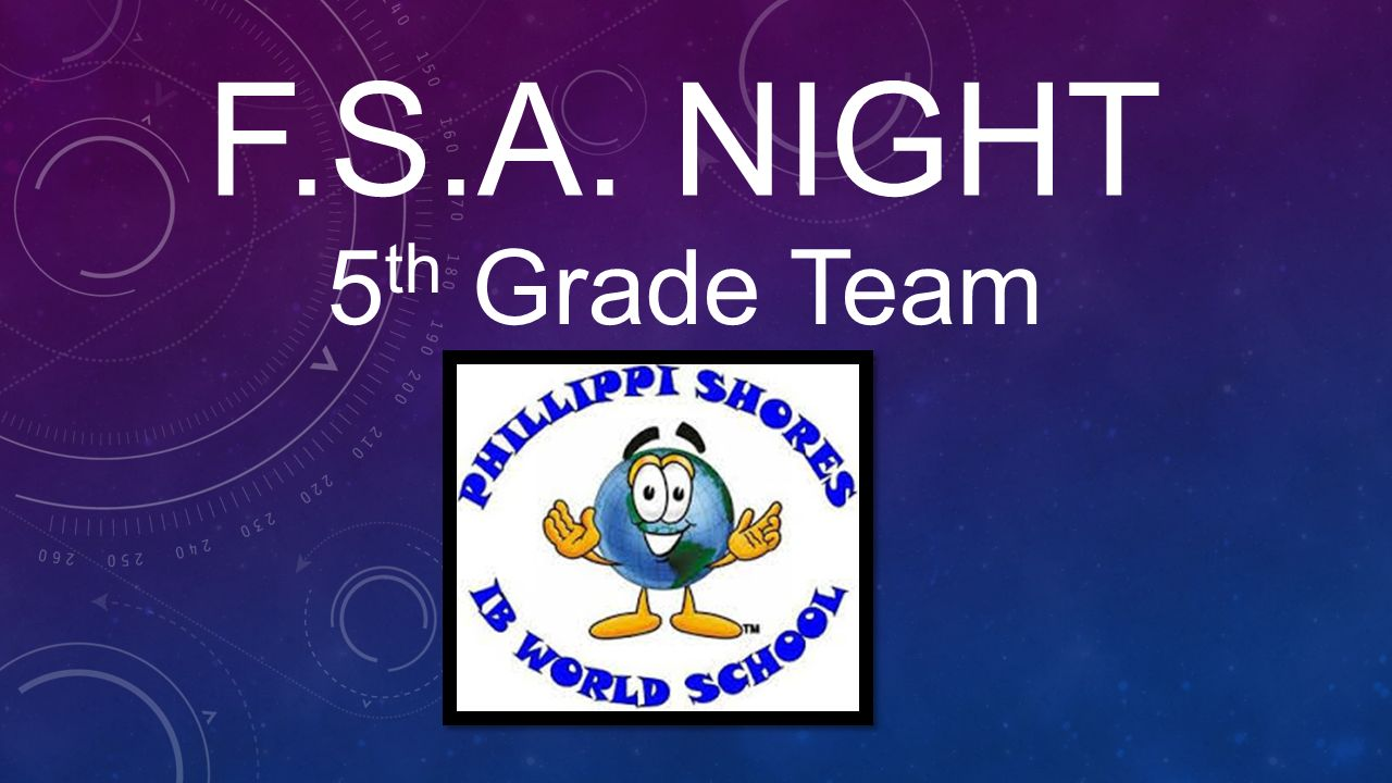 hight resolution of F.S.A. Night 5th Grade Team. - ppt video online download