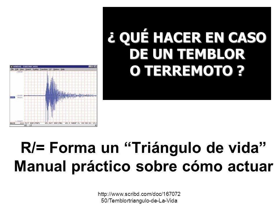"""R/= Forma un """"Triángulo de vida"""" Manual práctico sobre"""