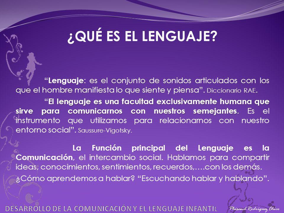 DESARROLLO DE LA COMUNICACIN Y EL LENGUAJE INFANTIL  ppt