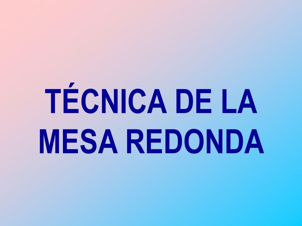 TCNICA DE LA MESA REDONDA  ppt descargar