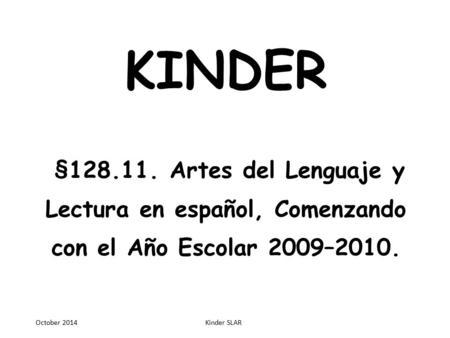 CUARTO GRADO § Artes del Lenguaje y Lectura en español