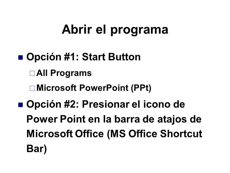 Diseño de una presentación computadorizada Microsoft Power